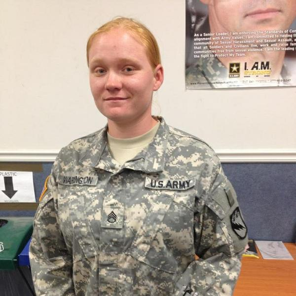 Madeline Warrington ultimately found a job as a car saleswoman after leaving the military. It wasn't what she envisioned after eight years in the Army.