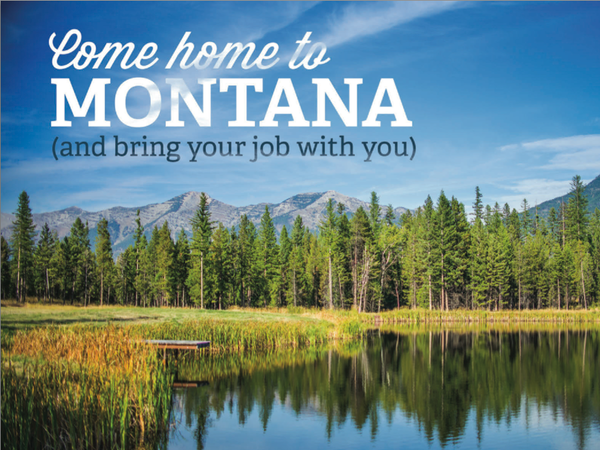 """Greg Gianforte is distributing a brochure urging workers to """"come home to Montana"""" and telework from there."""