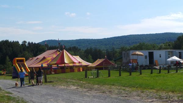 This photo, from the Walker Brothers Circus website, shows the main tent at a performance in Vermont.