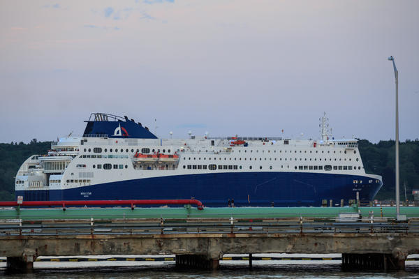The Nova Star ferry prepares to embark on a trip to Nova Scotia in June.
