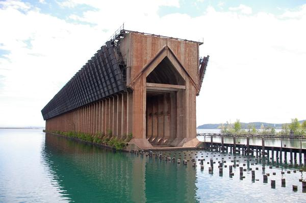 Marquette's Lower Harbor Ore Dock closed in 1971. It's a striking reminder of the city's mining past.