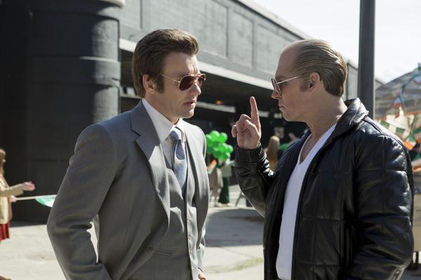 "Joel Edgerton as FBI Agent John Connolly and Johnny Depp as Whitey Bulger in 'Black Mass."" (Courtesy Warner Bros. Entertainment)"
