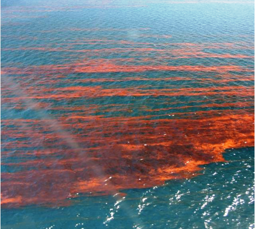 Oil streaks in the Gulf in 2012
