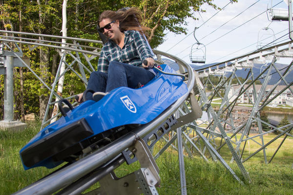 Vermont ski resorts hope investment in non-ski attractions, like the new $2 million Beast Mountain Coaster at Killington Resort, will turn resorts into year-round destinations.