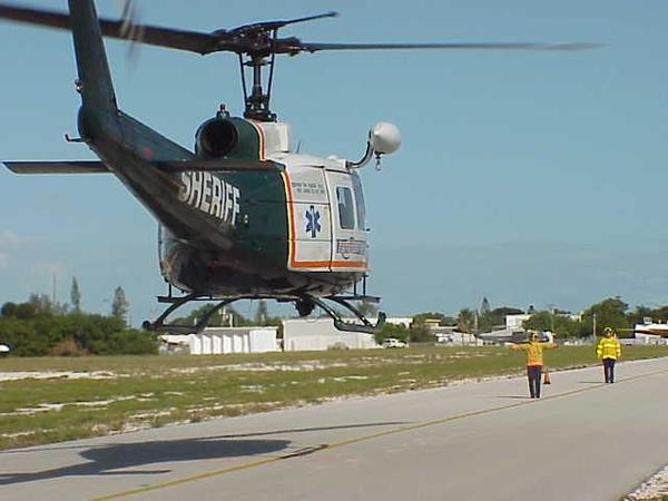 In the Keys, a medical airlift can cost more than $50,000. Or, if you live or own property in the Keys, it only costs what your insurance company pays. It all depends on which helicopter provides the ride.