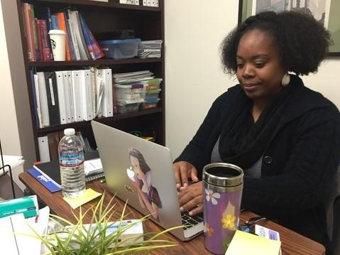 Shanda Williams grew up in Oakland, where there's great need for health providers who understand the community, she says. Williams was inspired to become a nurse after noticing her grandmother's lack of candor at visits to the doctor.