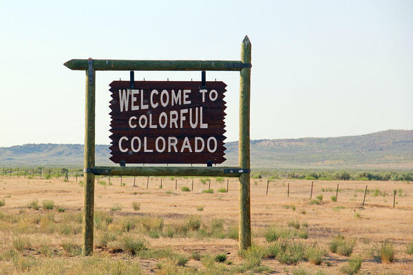 A sight many see as they enter the state, this Colorful Colorado sign can be seen along Route 40 as you enter into Moffat County from Utah.