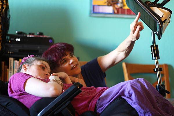 Valerie deChadenedes, 30, who has Rett syndrome, is now cared for by her mother, Audrey.