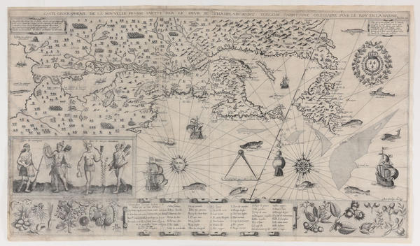 After missing for more than a decade, a centuries-old map, Carte Geographique de Nouvelle France by explorer Samuel de Champlain, has been found and returned to the Boston Public Library. The map dates back to 1612. (Courtesy Boston Public Library)
