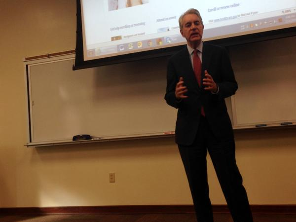 HealthCare.gov CEO Kevin Counihan visited Tampa on Friday.