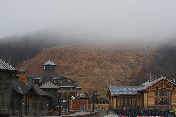 A foggy afternoon at Stowe. At nearby Sugarbush, Marketing Director Candice White says staff are finding creative ways to keep guests happy.