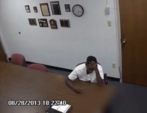 A still image from a video of Trevon Yates' interrogation by St. Clair County investigators.