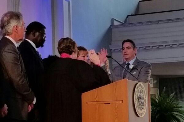 Domenic Sarno is inaugurated for a fourth time as mayor of Springfield,Ma