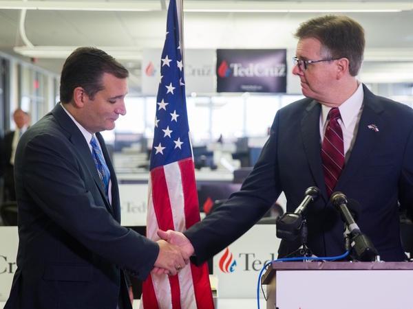 Sen. Ted Cruz won the Republican Iowa Caucus Monday night. Lt. Gov. Dan Patrick said it was inevitable.