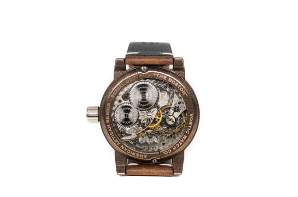 A Vortic watch made with a Waltham timepiece. (Courtesy Vortic Watch Company)