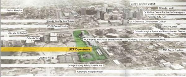 UCF's proposed downtown campus.