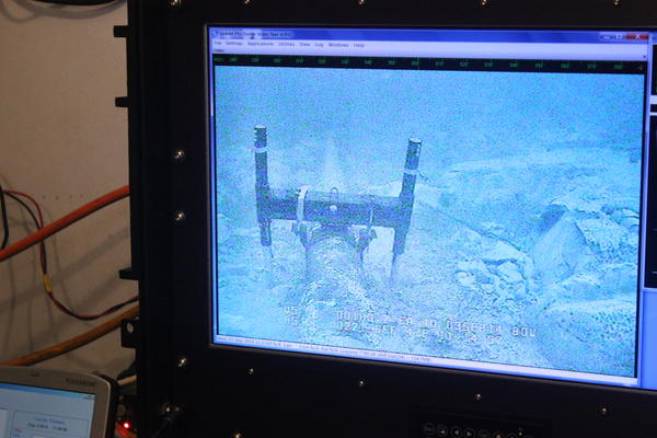 A dive team works on Line 5 under the Straits of Mackinac.