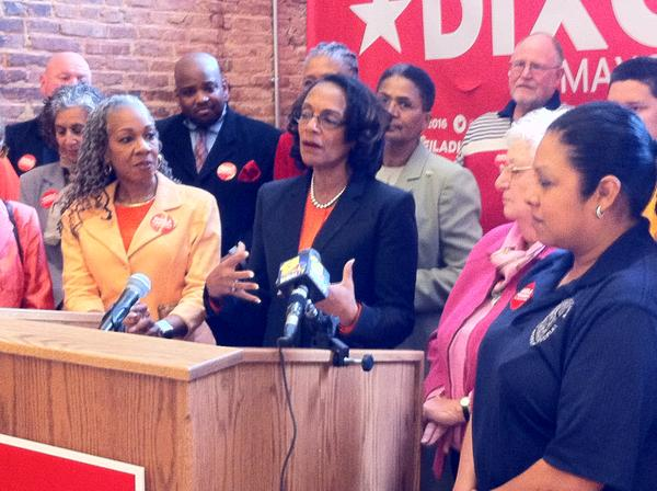 Former Mayor Shiela Dixon at a recent rally