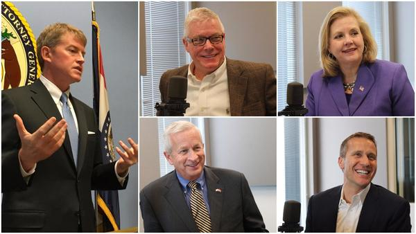 Missouri's five major gubernatorial candidates