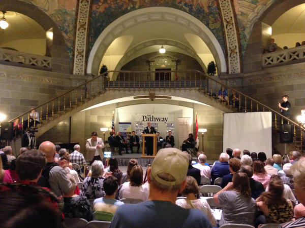 Supporters of the proposed constitutional amendment lobby Missouri legislators on Tuesday in Jefferson City.