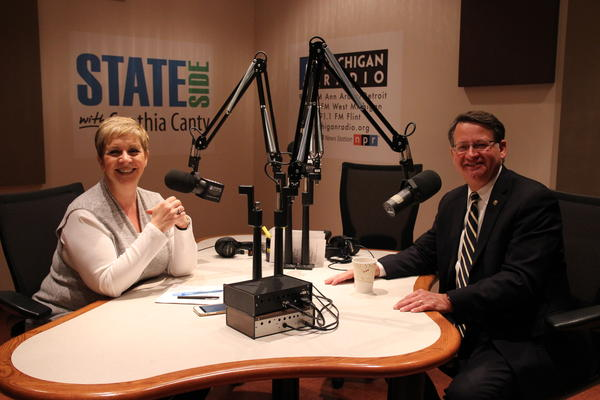 """Sen. Gary Peters joined Cynthia Canty in the studio for today's """"Stateside"""""""