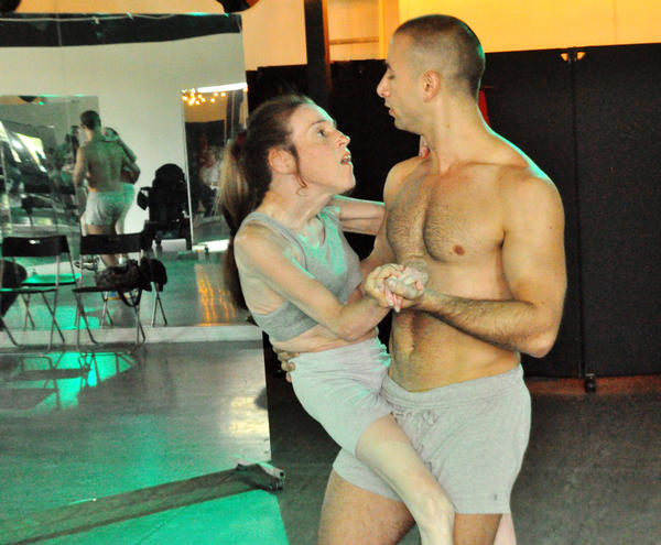 Marjorie Burnett rehearses with Pioneer Winter for a mixed-ability dance performance.