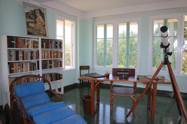 Inside the tower at Finca Vigia