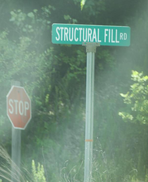 Roads on Marshall's coal ash basin have names.