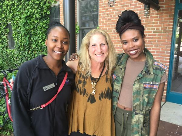 Left to right: Starneka Johnson, Susan Schooner and Dea Chappell. Schooner is the executive director of Girls Group, an organization that empowers young women like Johnson and Chappell.