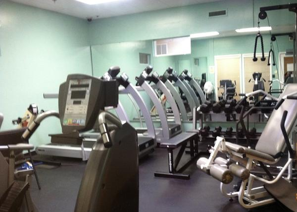 The exercise room at the Honor Center.