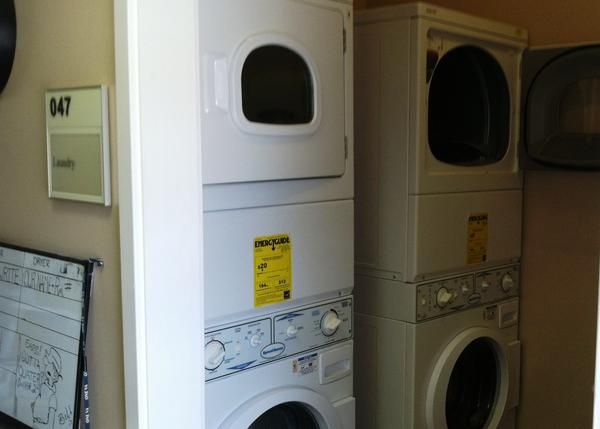 Veterans have access to laundry facilities part of learning to care for themselves.