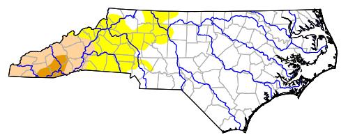 U.S. Drought Monitor of North Carolina Map as of June 21, 2016.