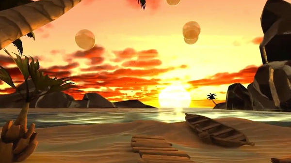 Aloha VR combines images of beaches with music, brief text and an audio introduction and welcome from the physician who helped create the program.