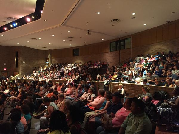 More than 300 people came to Ypsilanti High School to participate in a meeting on police-community relations.