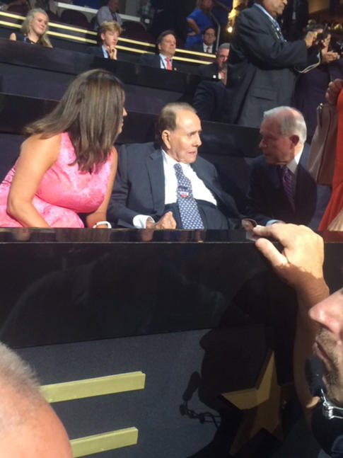 Former presidential candidate and Retired u.s. Sen Robert Dole was at the convention Monday night