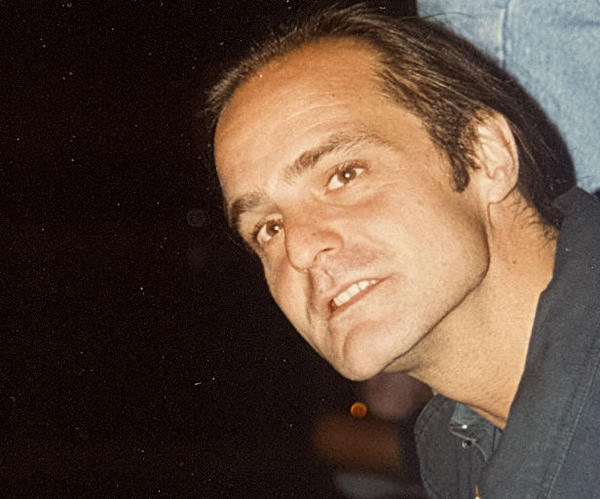 Jeff Montgomery at the The NAMES Project's AIDS Quilt Memorial Display Candlelight Vigil in October, 1992.