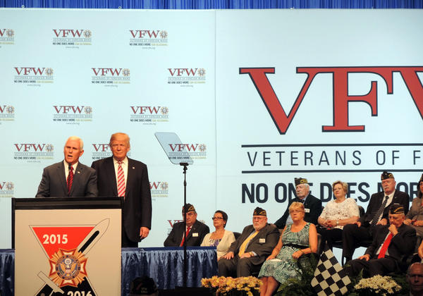 Donald Trump addressed the annual VFW Convention on Tuesday, July 26, 2016.