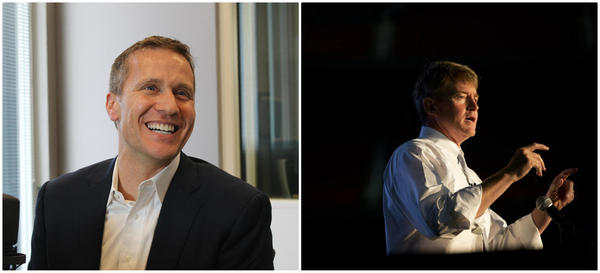 Voters have selected Republican Eric Greitens, left, and Democrat Chris Koster to vie for the governor's seat.