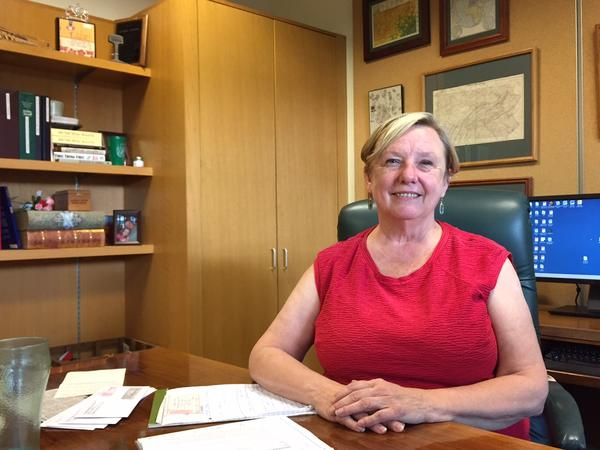 Joanne Shafer is deputy director and recycling coordinator at the Centre County Recycling and Refuse Authority, where two years' worth of Penn State's polystyrene sat when the market got bad.