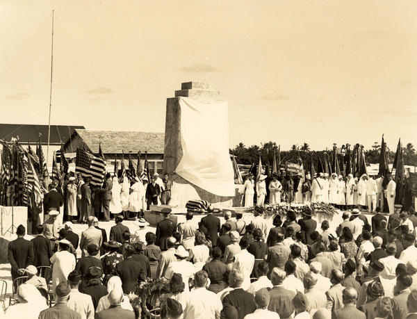 A memorial to the victims of the hurricane was dedicated in 1937.