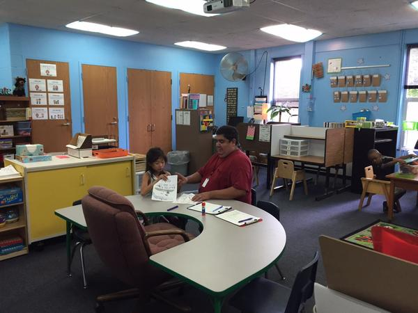 This special education classroom in Holt has a one to one student teacher ratio