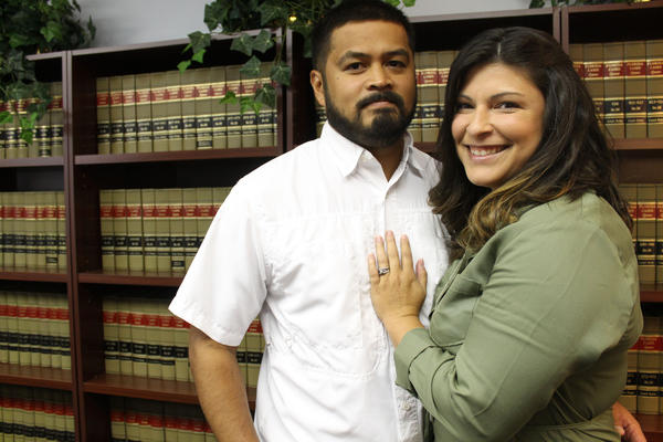 Gerry Realin, left, was diagnosed with PTSD after responding to the Pulse Night Club shooting. Jessica Realin wants Florida's workers' compensation laws to cover the condition.