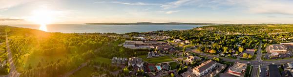 The land around Little Traverse Bay, including Petoskey and Harbor Springs, is part of the area in question.