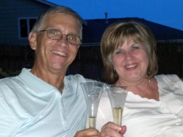 Jim and his wife Sheryl Isaacson McGough, on their 40th wedding anniversary in 2012.