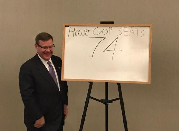 NC House Speaker Tim Moore after Republicans sealed a supermajority in the N.C. House.