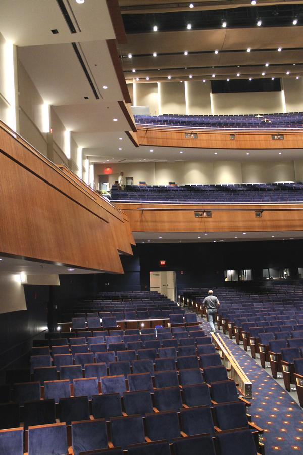 After being gutted, the auditorium now features new seats and balconies.
