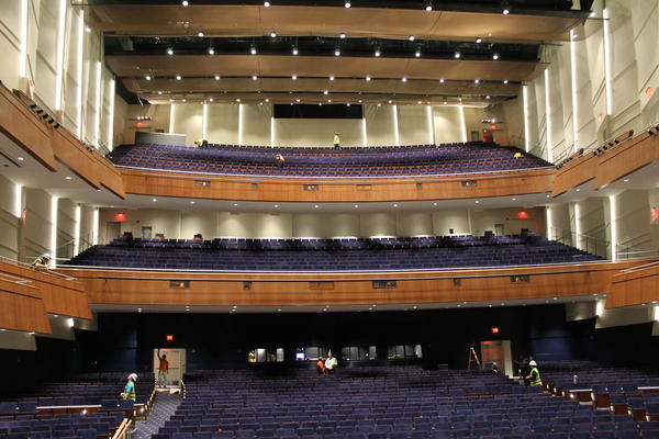 The grandness, as viewed from the stage, inside Robinson Center.