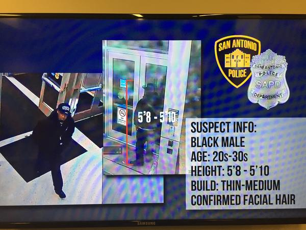 Screen grabs of the surveillance video showing the suspect wanted in Sunday's fatal shooting of Det. Benjamin Marconi.