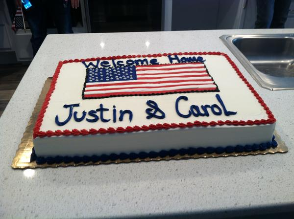 """The day was more than a dedication, it was a """"party"""" for all who contributed and supported the effort. Justin Lansford asked for everyone in the crowd to stop by and say hello so he and his wife could thank them personally."""