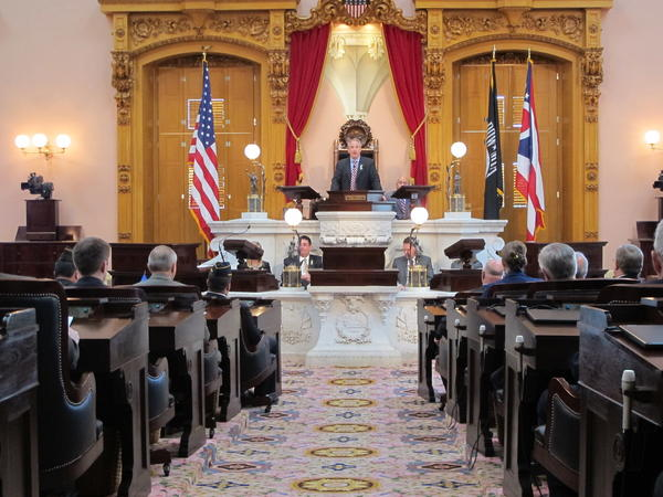 President Keith Faber (R-Celina) presides over the Senate in this file photo.
